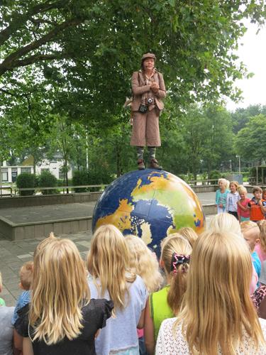 wereldwandelaar op school